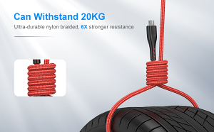 10ft Kevlar-Reinforced Nylon-Braid Pro-Gaming micro-USB Cable